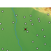 Nearby Forecast Locations - Naugawan Sadat - Map