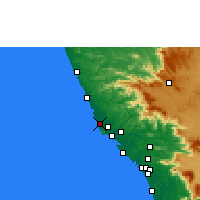 Nearby Forecast Locations - Payyanur - Map