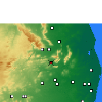 Nearby Forecast Locations - Puttur - Map