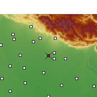 Nearby Forecast Locations - Rudrapur - Map