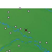 Nearby Forecast Locations - Shikohabad - Map