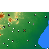 Nearby Forecast Locations - Sivaganga - Map
