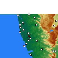 Nearby Forecast Locations - Tiruvalla - Map