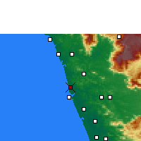 Nearby Forecast Locations - Tirur - Map