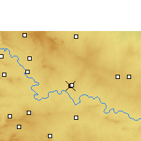 Nearby Forecast Locations - Ugar - Map