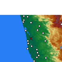 Nearby Forecast Locations - Vaikom - Map