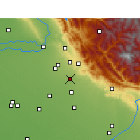 Nearby Forecast Locations - Zirakpur - Map