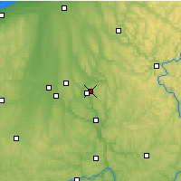 Nearby Forecast Locations - Hermitage - Map