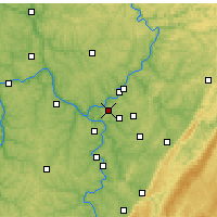 Nearby Forecast Locations - Penn Hills - Map
