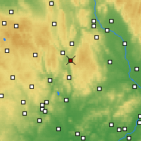 Nearby Forecast Locations - Boskovice - Map