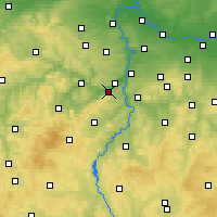 Nearby Forecast Locations - Dobřichovice - Map