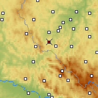 Nearby Forecast Locations - Domažlice - Map