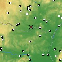 Nearby Forecast Locations - Hrušovany nad Jevišovkou - Map