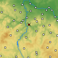 Nearby Forecast Locations - Jílové u Prahy - Map
