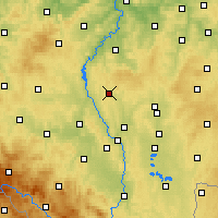 Nearby Forecast Locations - Milevsko - Map