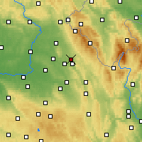 Nearby Forecast Locations - Rychnov nad Kněžnou - Map
