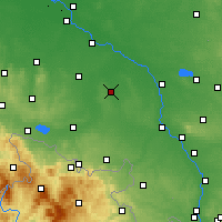 Nearby Forecast Locations - Niemodlin - Map
