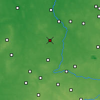Nearby Forecast Locations - Złoczew - Map