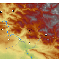 Nearby Forecast Locations - Şırnak - Map