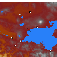 Nearby Forecast Locations - Ahlat - Map