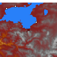 Nearby Forecast Locations - Gevaş - Map