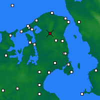 Nearby Forecast Locations - Hillerød - Map