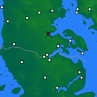 Nearby Forecast Locations - Aabenraa - Map