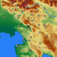 Nearby Forecast Locations - Ajdovščina - Map