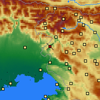 Nearby Forecast Locations - Kanal ob Soči - Map
