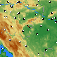 Nearby Forecast Locations - Metlika - Map
