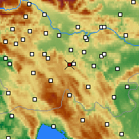 Nearby Forecast Locations - Velike Lašče - Map