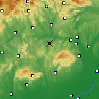 Nearby Forecast Locations - Ózd - Map