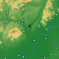 Nearby Forecast Locations - Mezőkövesd - Map