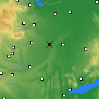 Nearby Forecast Locations - Sárvár - Map