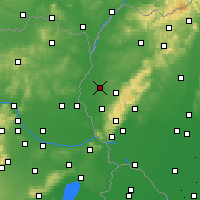 Nearby Forecast Locations - Trnava - Map