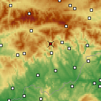 Nearby Forecast Locations - Tisovec - Map