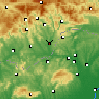 Nearby Forecast Locations - Tornaľa - Map