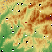 Nearby Forecast Locations - Turčianske Teplice - Map
