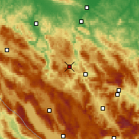 Nearby Forecast Locations - Mrkonjić Grad - Map