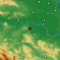 Nearby Forecast Locations - Odžak - Map