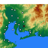 Nearby Forecast Locations - Okazaki - Map
