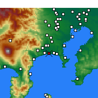 Nearby Forecast Locations - Chigasaki - Map