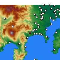 Nearby Forecast Locations - Hadano - Map