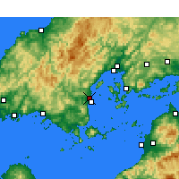 Nearby Forecast Locations - Iwakuni - Map