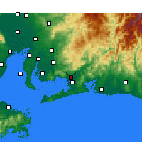 Nearby Forecast Locations - Toyokawa - Map