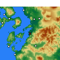 Nearby Forecast Locations - Yatsushiro - Map
