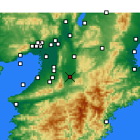 Nearby Forecast Locations - Kashihara - Map