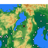 Nearby Forecast Locations - Higashiōmi - Map