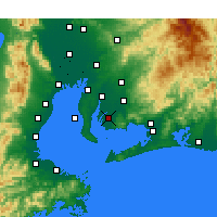 Nearby Forecast Locations - Nishio - Map