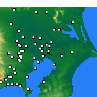 Nearby Forecast Locations - Kamagaya - Map